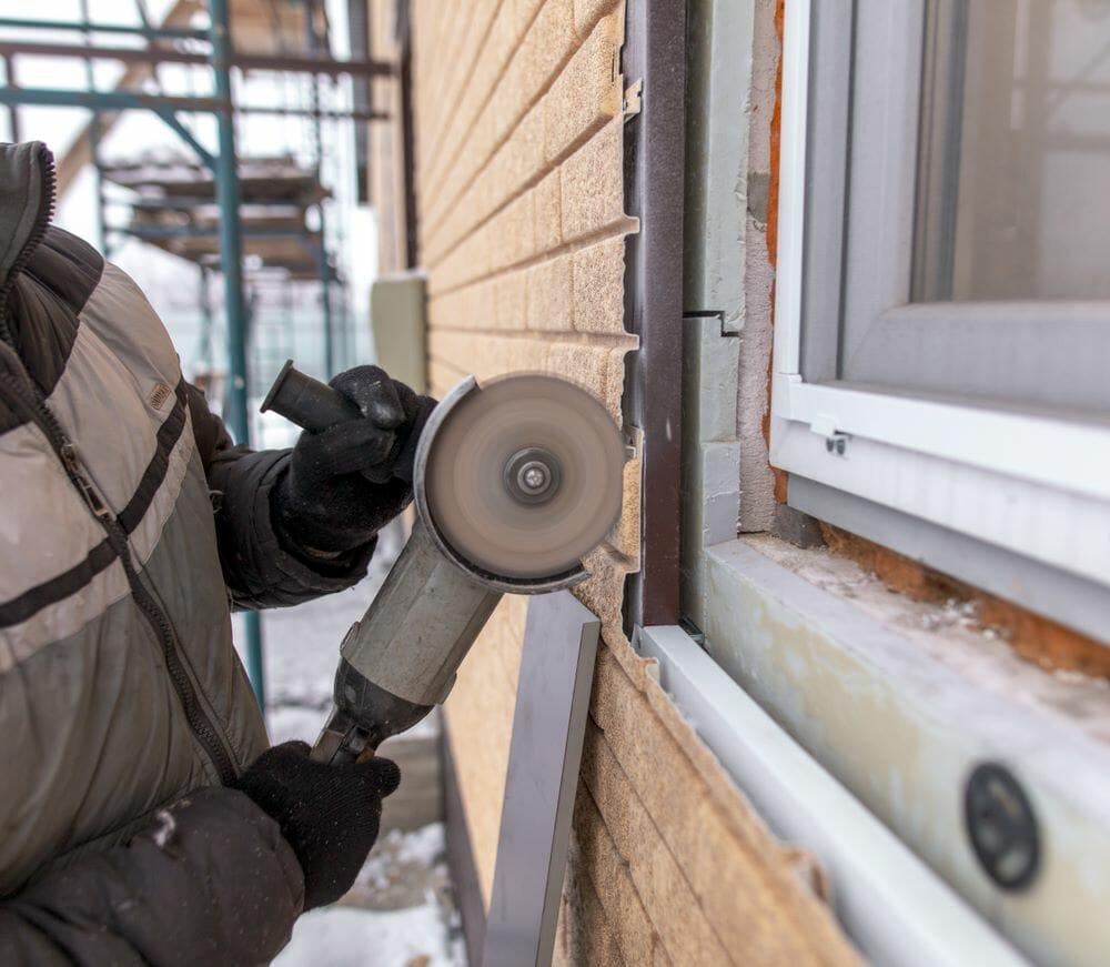 Replacing an Exterior Window with Vinyl Siding
